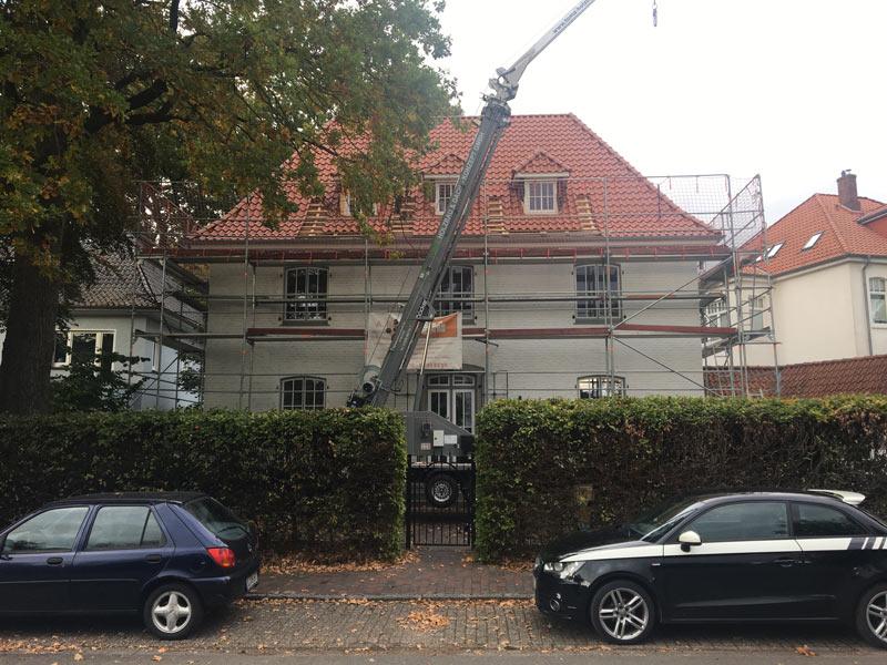 Hausfassade vorher